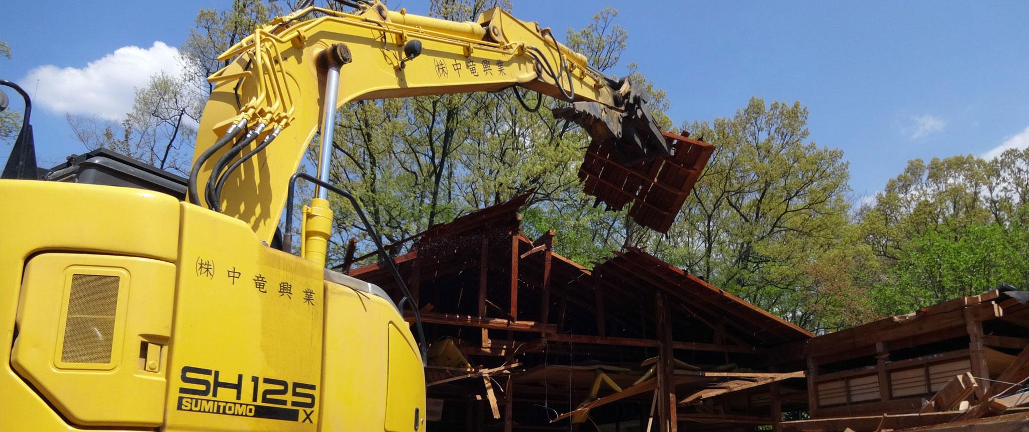 解体工事の松本市現場写真1