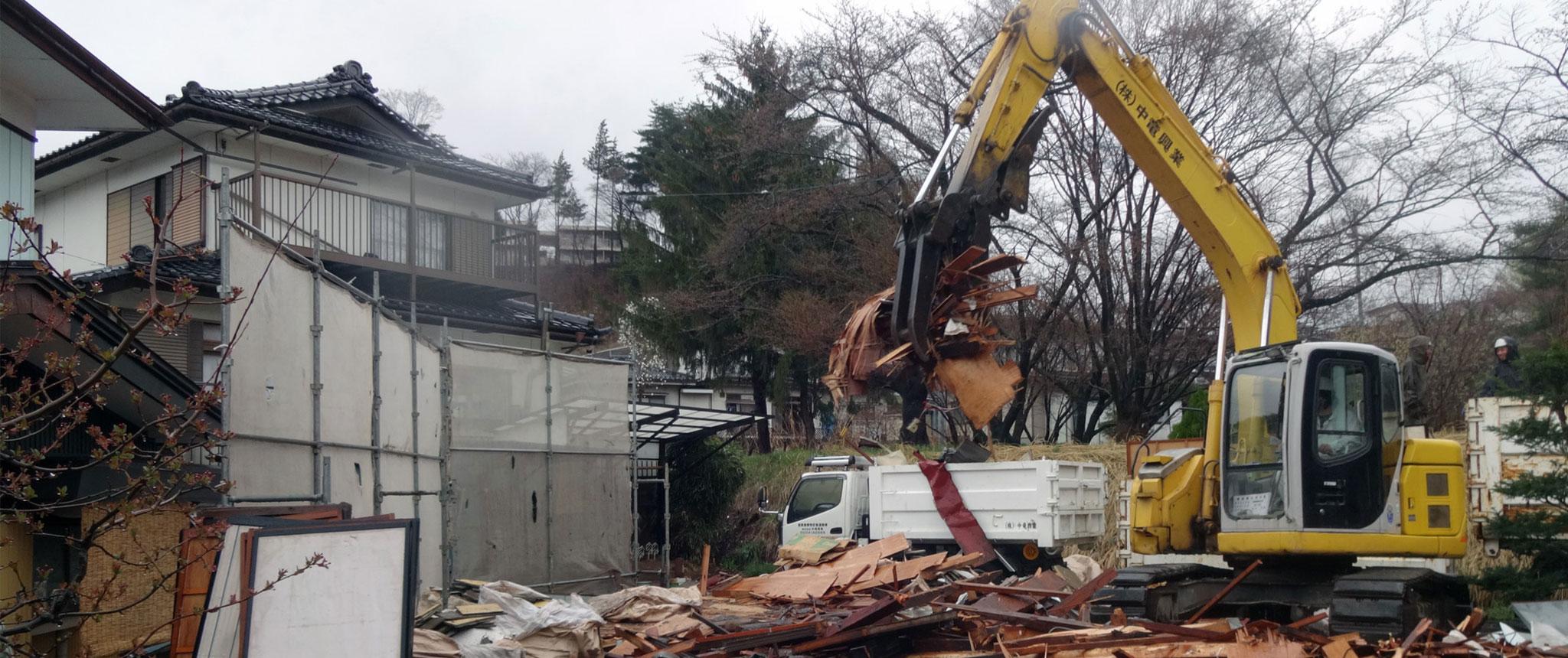 解体工事の松本市現場写真2